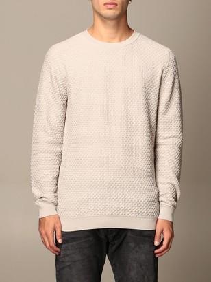 Giorgio Armani Sweater Crewneck Sweater In Honeycomb Virgin Wool Blend