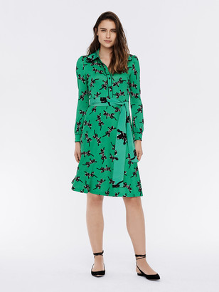 Diane von Furstenberg Milly Silk-Jersey Shirt Dress