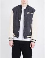 Topman Topman Lexington Woven Varsity Jacket