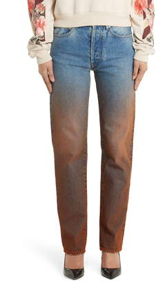 Off-White Degrade Baggy Straight Leg Jeans
