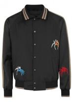 Lanvin Black Spider-embellished Bomber Jacket
