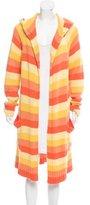 Max Mara Hooded Striped Cardigan