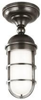 575 Denim Caozinha 1 - Light Caged Cylinder Semi Flush Mount 17 Stories Finish: Antique Nickel