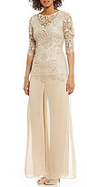 Emma Street Embroidered Lace 2-Piece Pant Set