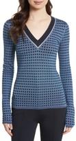 Diane von Furstenberg Women's Banded V-Neck Sweater