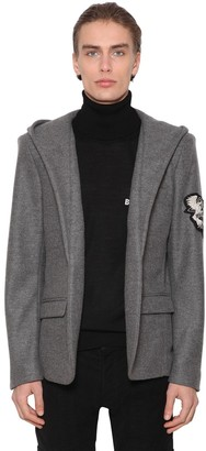 Balmain HOODED VIRGIN WOOL JACKET