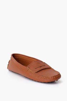 Poeta Cognac Leather Penny Loafer