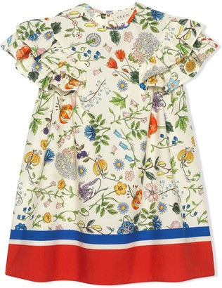 Gucci Kids Flora Festival print dress