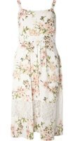 Dorothy Perkins Womens Petite Floral Lace Midi Dress- White