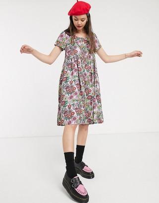 Lazy Oaf smock dress in floral