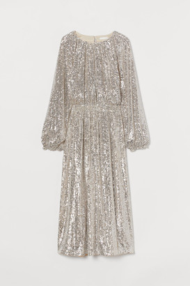 H&M Sequined Dress - Beige