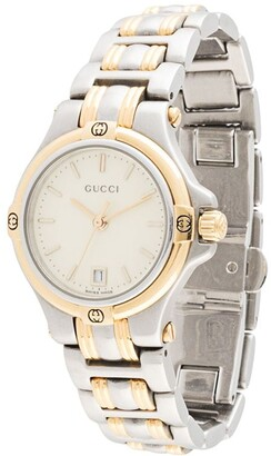 Gucci Pre Owned Round-Face Wrist Watch