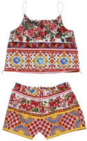 Dolce & Gabbana Mambo Print Cotton Poplin Top & Shorts