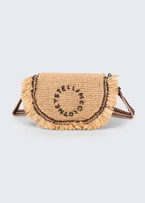Stella McCartney Crochet Raffia Logo Shoulder Bag