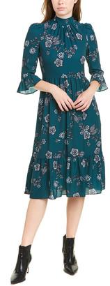 Eliza J Mock Collar Midi Dress