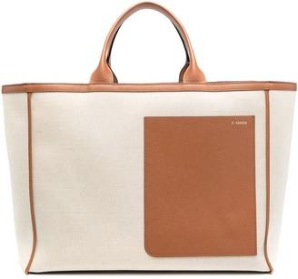 Valextra Two-Tone Tote Bag