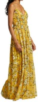 Thumbnail for your product : ML Monique Lhuillier Pleated Chiffon Maxi Dress