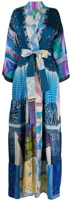 RIANNA + NINA Silk Patch-Work Coat