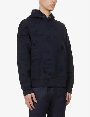 Emporio Armani Contrast-badge stretch-jersey hoody