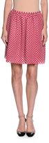 Giorgio Armani Organza-Dot Full Skirt, Fuchsia