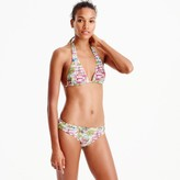 J.Crew Sliding halter bikini top in harbor print