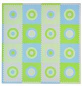Tadpoles TadpolesTM by Sleeping Partners Circles 16-Piece Playmat Set in Blue/Green