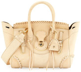Ralph Lauren Ricky 27 Whipstitched Leather Satchel Bag, Cream
