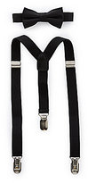 Starting Out Baby Boys Solid Bow Tie & Suspender Set