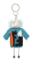 Fendi Teen Witches rabbit and mink-fur bag charm