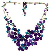 Cartier Delices de Goa 18K Yellow Gold Amethyst, Turquoise and Diamond Double String Necklace