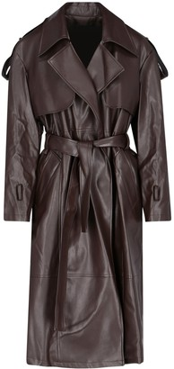 Low Classic Double-Breasted Belted Coat