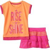 """adidas Toddler Girl Rise to Shine"""" Tee & Skort Set"""