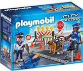 Playmobil NEW Police Roadblock