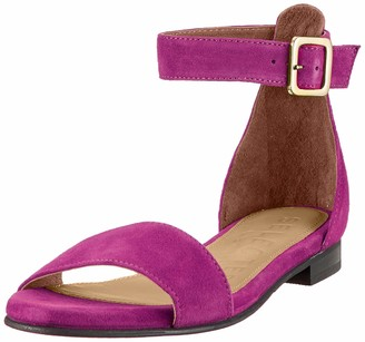 Selected Women's Slfmerle Suede Flat Sandal B Ankle Strap
