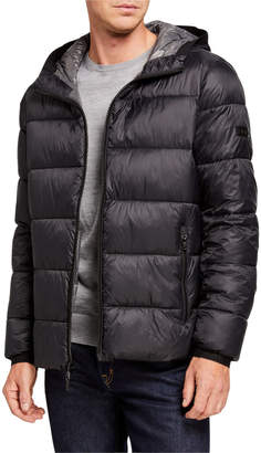 MICHAEL Michael Kors Men's Quilted Hooded Puffer Coat