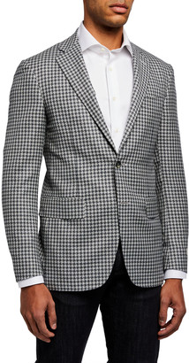 Canali Men's Large Houndstooth Two-Button Jacket