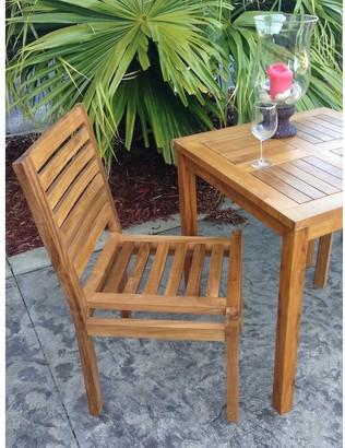 Chic Teak Kasandra Teak Wood Indoor/ Outdoor Dining Side Chair