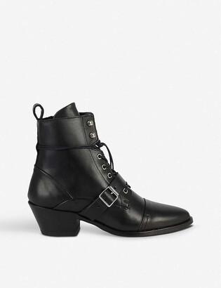 AllSaints Katy heeled leather boots