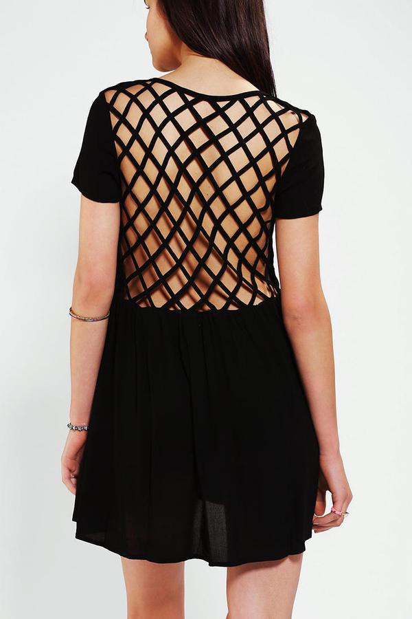 Evil Twin Paranoid Lattice-Back Dress
