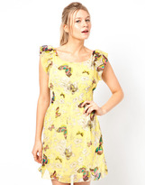 Yumi Butterfly Print Dress