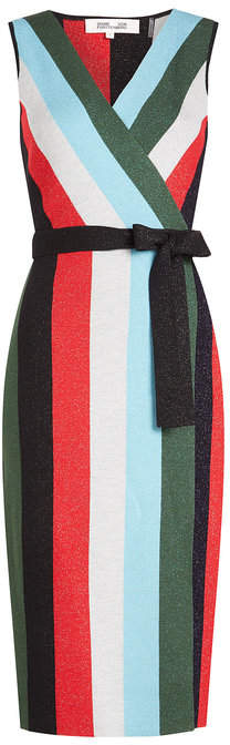 Diane von Furstenberg Knit Wrap Dress with Wool