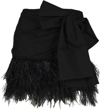 No.21 N21 Feathered Bow Detail Mini Skirt