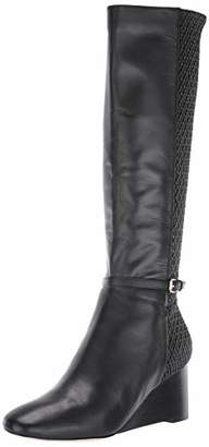 Cole Haan Women's LAURALYN Stretch Wedge Boot (65MM) Mid Calf