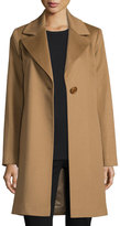 Fleurette Wool Single-Button Coat, Vicuna