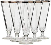 One Kings Lane Vintage 1960s Silver-Rim Glass Pilsners