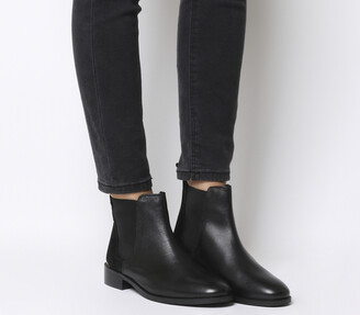 Office Bramble Chelsea Boots Black Leather Suede Mix Metal Hardware