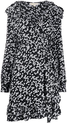 MICHAEL Michael Kors Floral Print Wrap Dress