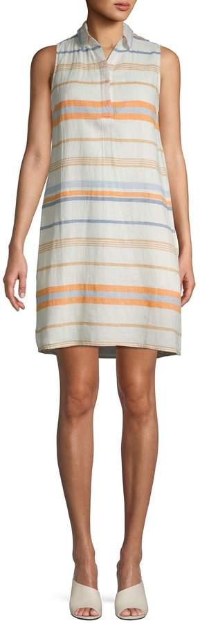 BeachLunchLounge Beach Lunch Lounge Printed Linen & Cotton Blend Shift Dress