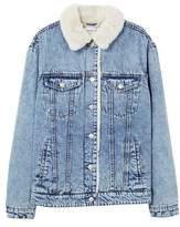 MANGO Embroidered denim jacket