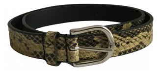 IRO Yellow Leather Belts